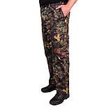 Костюм зимний куртка под резинку + штаны ФЛИС UkrCamo ЗКШДРф 48р. Дубок тёмный, фото 3