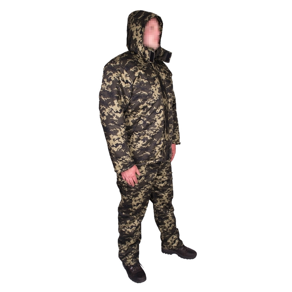 Костюм зимний куртка прямая + штаны UkrCamo ЗКШПД 52р. Пиксель тёмный
