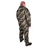 Костюм зимний куртка прямая + штаны UkrCamo ЗКШПД 58р. Пиксель тёмный, фото 3