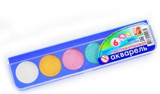 Краски акварельные перламутровые  Луч,  без кисточки, 6 цветов
