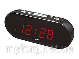 Часы настольные сетевые VST-715  Крассный