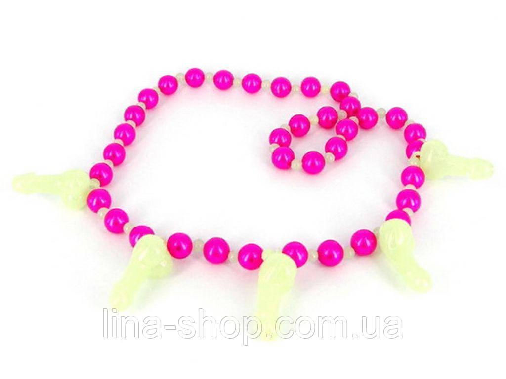 Эротическое ожерелье Glowing Pecker Necklace