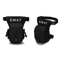 Стегновий поясна сумка Swat Чорна