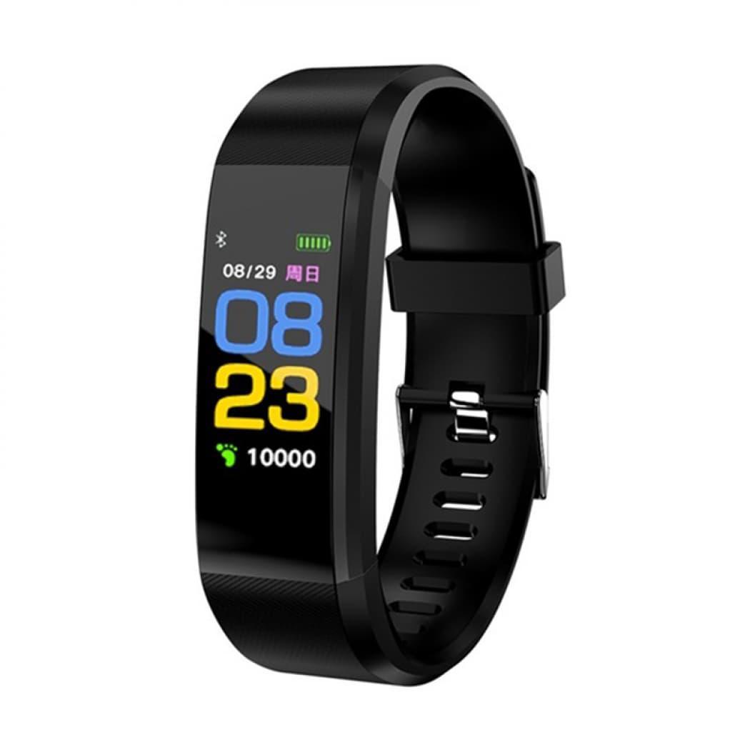 Фитнес браслет Smart Band 115 PLUS черный. Давление, пульс. Фитнес трекер. Шагомер. Часы.