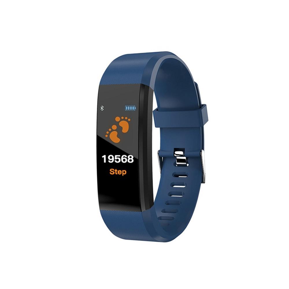 Фитнес браслет Smart Band 115 PLUS синий. Давление, пульс. Фитнес трекер. Шагомер. Часы.
