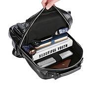 Городской мужской рюкзак Черный. Рюкзак для ноутбука POLO, фото 3