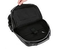 Городской мужской рюкзак Черный. Рюкзак для ноутбука POLO, фото 4