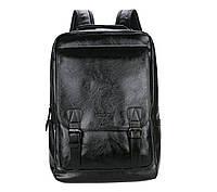 Городской мужской рюкзак Черный. Рюкзак для ноутбука POLO, фото 6