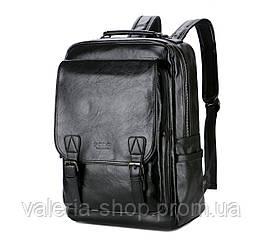 Городской мужской рюкзак Черный. Рюкзак для ноутбука POLO