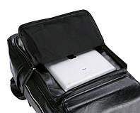 Городской мужской рюкзак Черный. Рюкзак для ноутбука POLO, фото 7
