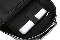Городской мужской рюкзак Черный. Рюкзак для ноутбука POLO, фото 9