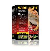 Светильник с фарфоровым патроном Exo Terra Wire Light малый.