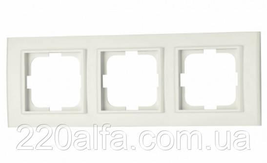 3-я рамка MINA, OVIVO (белая и крем)