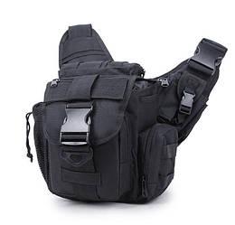 Міська тактична штурмова сумка ForTactic Чорна