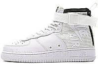 fd61600f Мужские кроссовки Nike Air Force 1 SF Mid White (найк аир форс 1 спешл филд