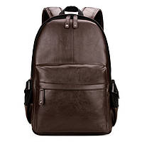Городской мужской рюкзак Черный, коричневый, фото 3