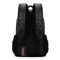 Городской мужской рюкзак Черный, коричневый, фото 5