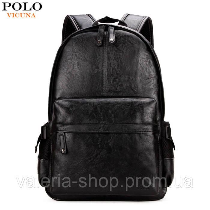 Городской мужской рюкзак Черный, коричневый