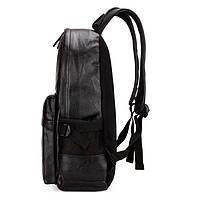 Городской мужской рюкзак Черный, коричневый, фото 6