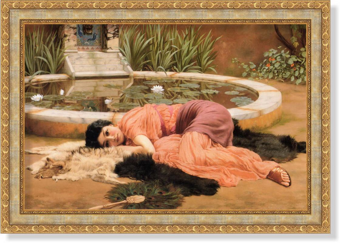 Репродукция картины Джона Уильяма Годварда «Нет ничего слаще» 50 х 70 см