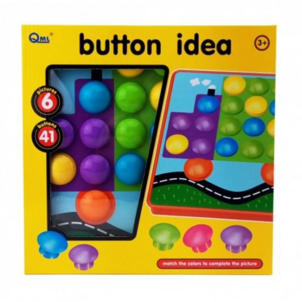 "Мозаика для малышей ""Пуговицы"" Button Idea, 41шт"