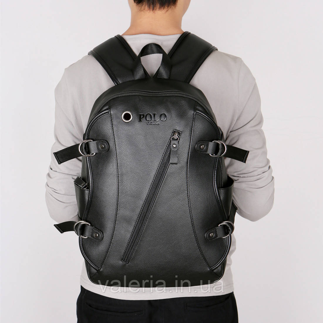 Городской мужской рюкзак POLO Черный