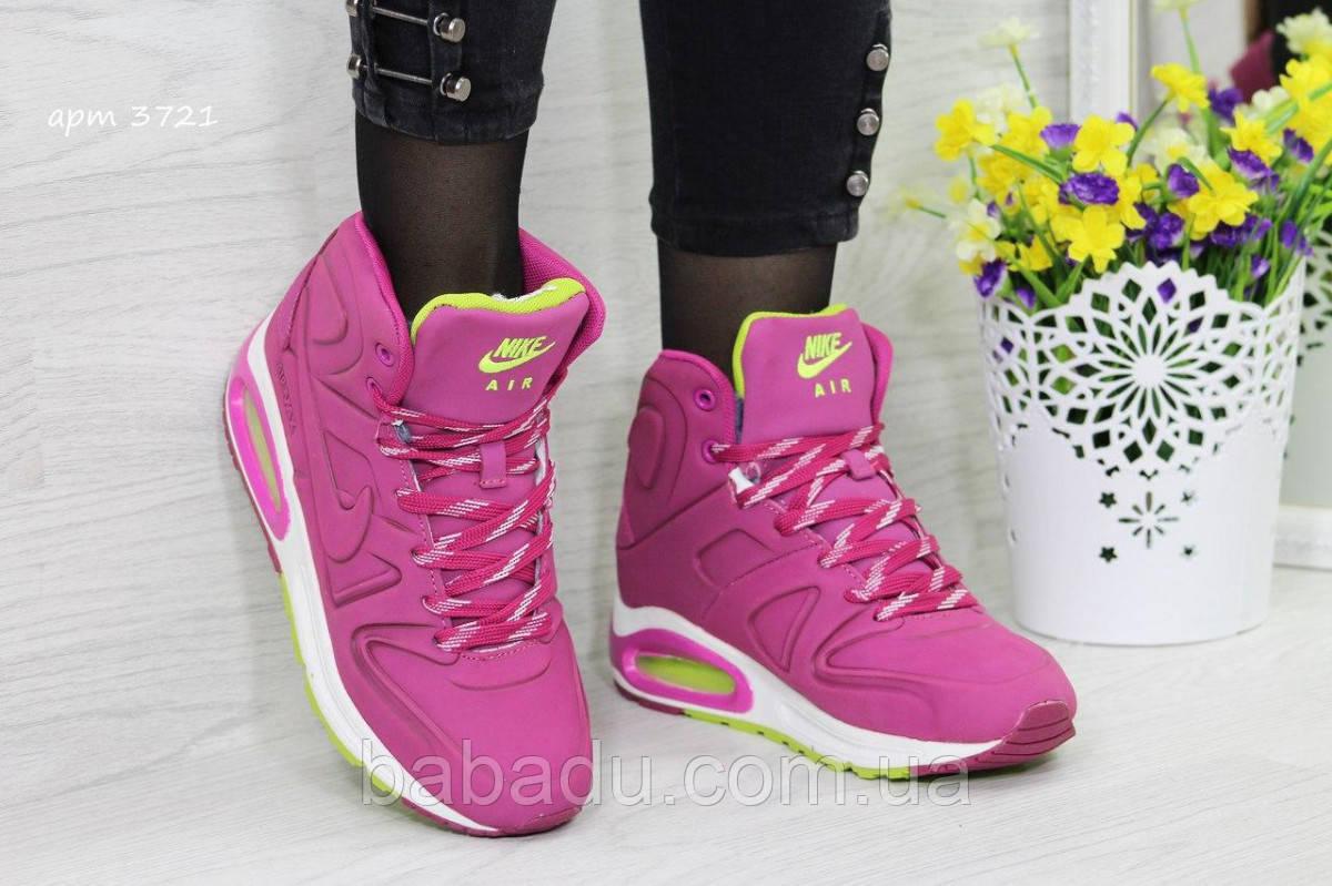 4dc110a0 Зимние кроссовки Nike Air Max 90 малиновые 3721 - купить по лучшей ...