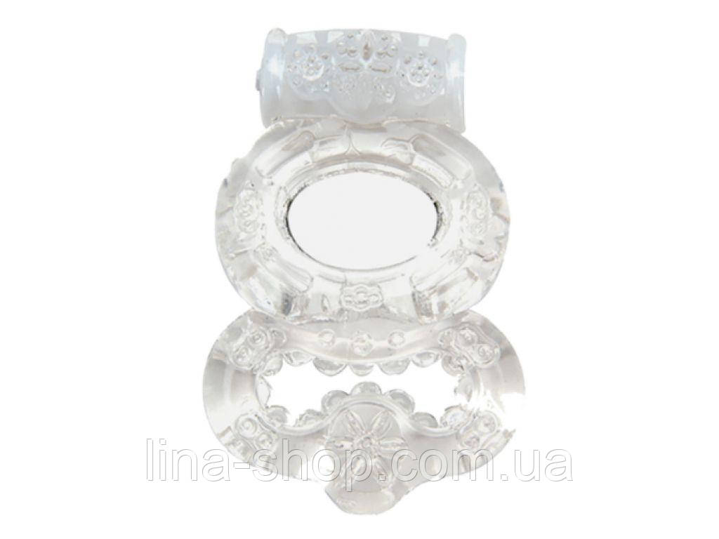 Эрекционное кольцо с вибрацией Climax® Gems™ Crystal Ring