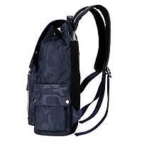 Мужской рюкзак высококачественная PU-кожа Черный, Синий, фото 3