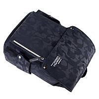 Мужской рюкзак высококачественная PU-кожа Черный, Синий, фото 5