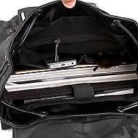 Мужской рюкзак высококачественная PU-кожа Черный, Синий, фото 8