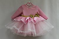"""Нарядное платье на девочку """"Илона"""" в розовом цвете"""