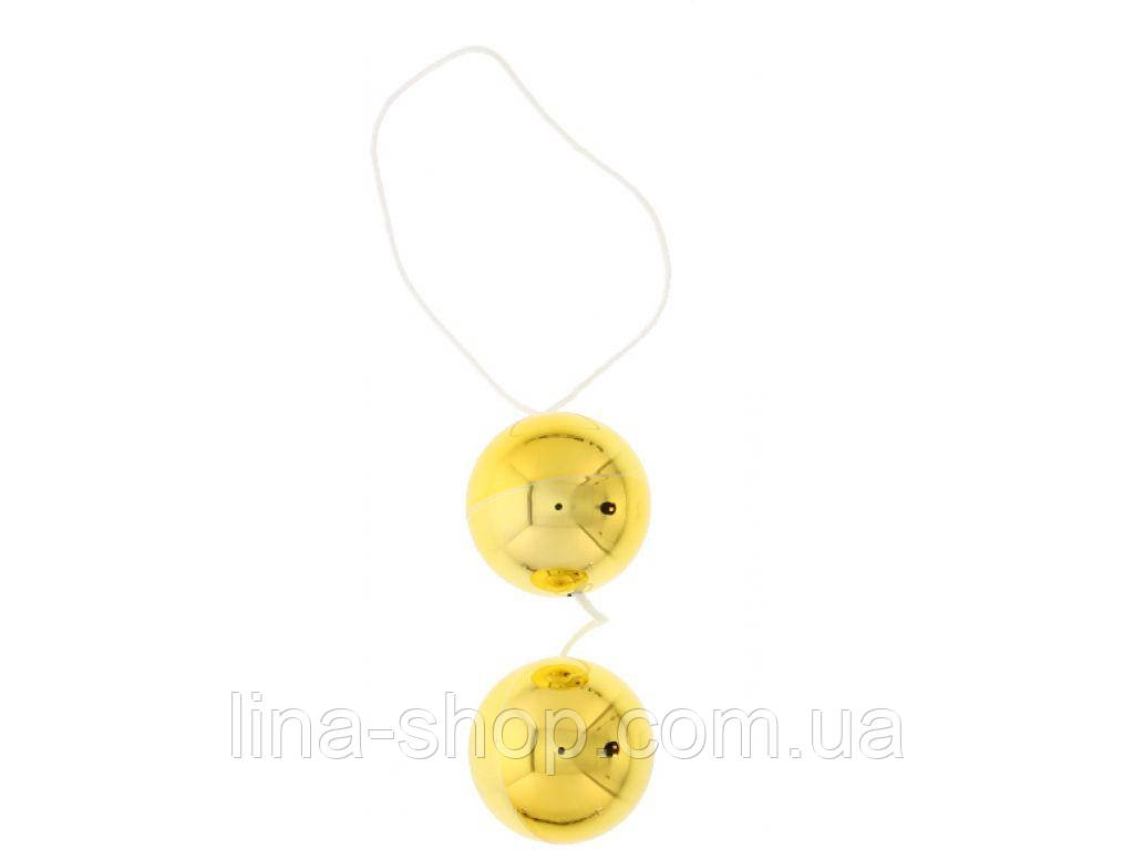 Seven Creations - Вагинальные шарики DUO BALLS,GOLD (DT50482)