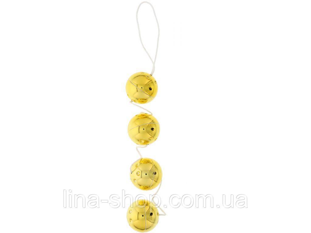 Seven Creations - Вагинальные шарики 4 GOLD VIBRO BALLS (DT50177)
