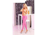 Pink Lipstick Lingerie - Легинсы Sleek and shiny pink leggings, S/M (PL7226001PSM)