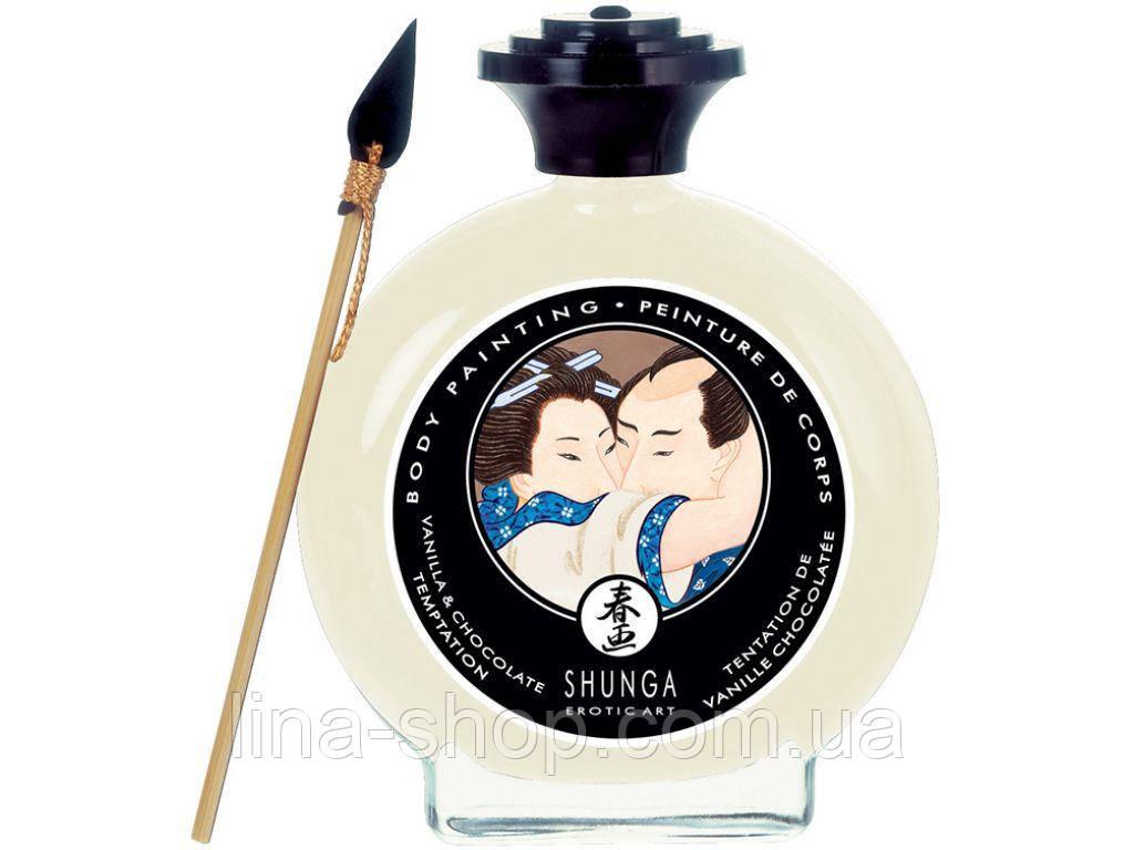 Shunga - Шоколад для рисования White Chocolate & Vanilla Bodypainting, 100 мл (T277001)