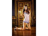 BACI - Пеньюар White-Purple Ruffled Nightgown (B304-WHITE PURPLE-OS), фото 1