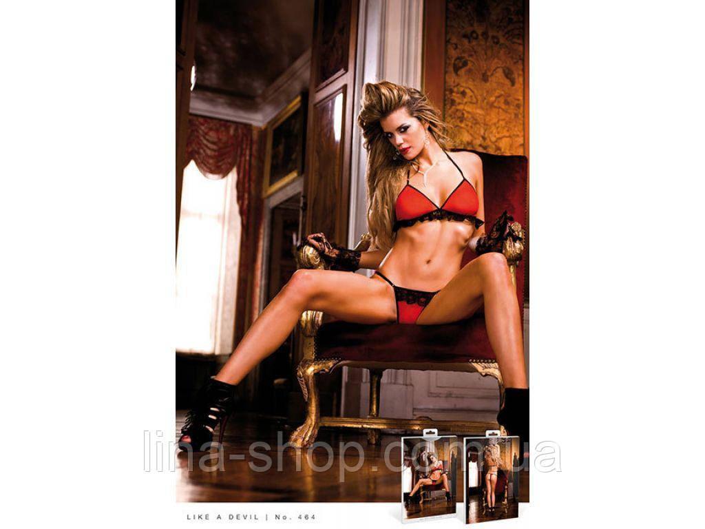 BACI - Комплект Red-Black Frilled Bikini Set (B464-BLACK RED-OS)