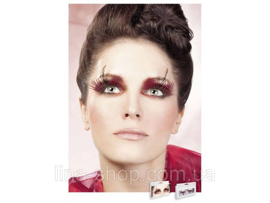 Baci Eyelashes - Реснички Red-Purple Feather Eyelashes (B622)
