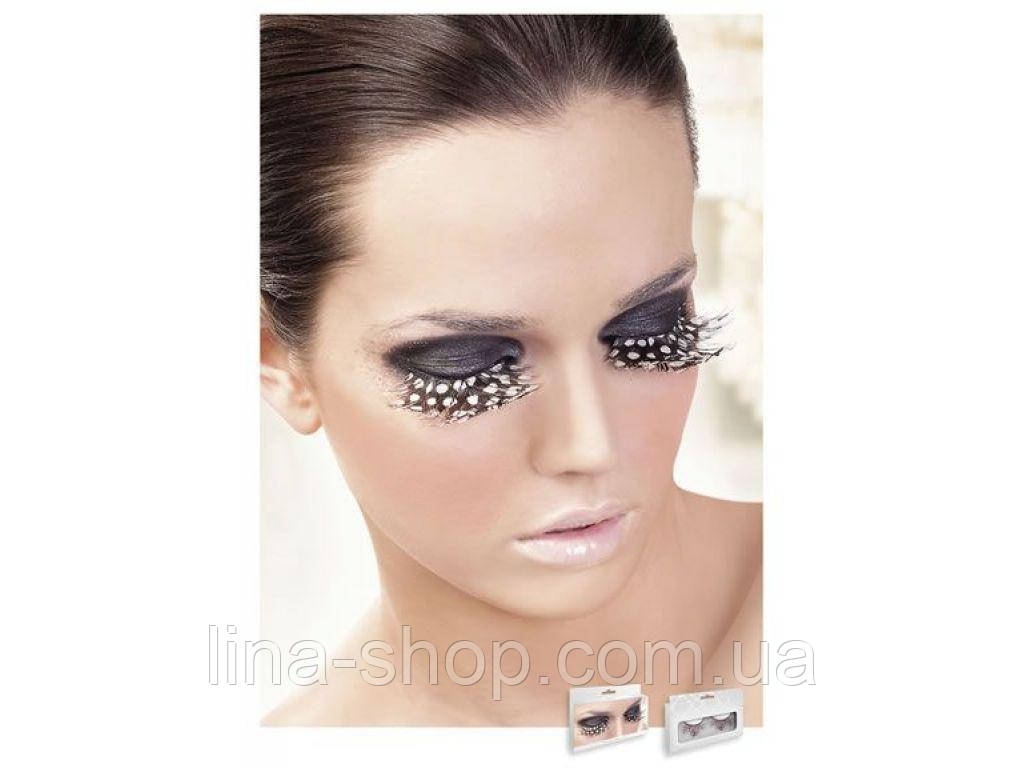 Baci Eyelashes - Реснички Brown-Purple Feather Eyelashes (B645)