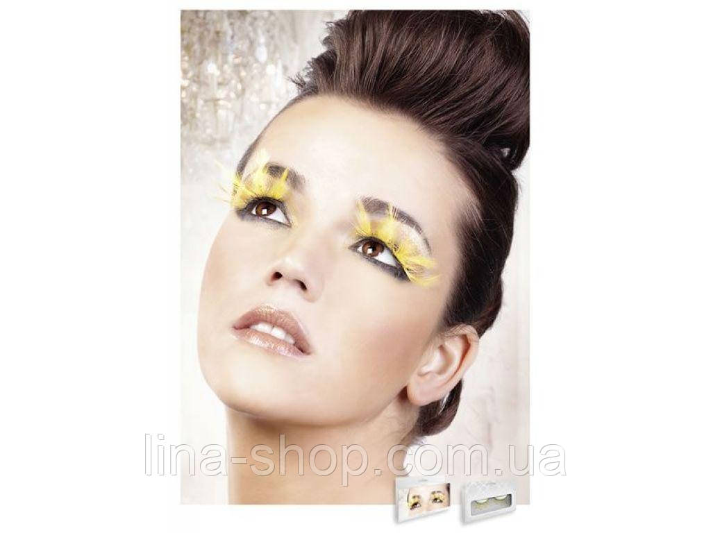 Baci Eyelashes - Реснички Yellow Feather Eyelashes (B640)