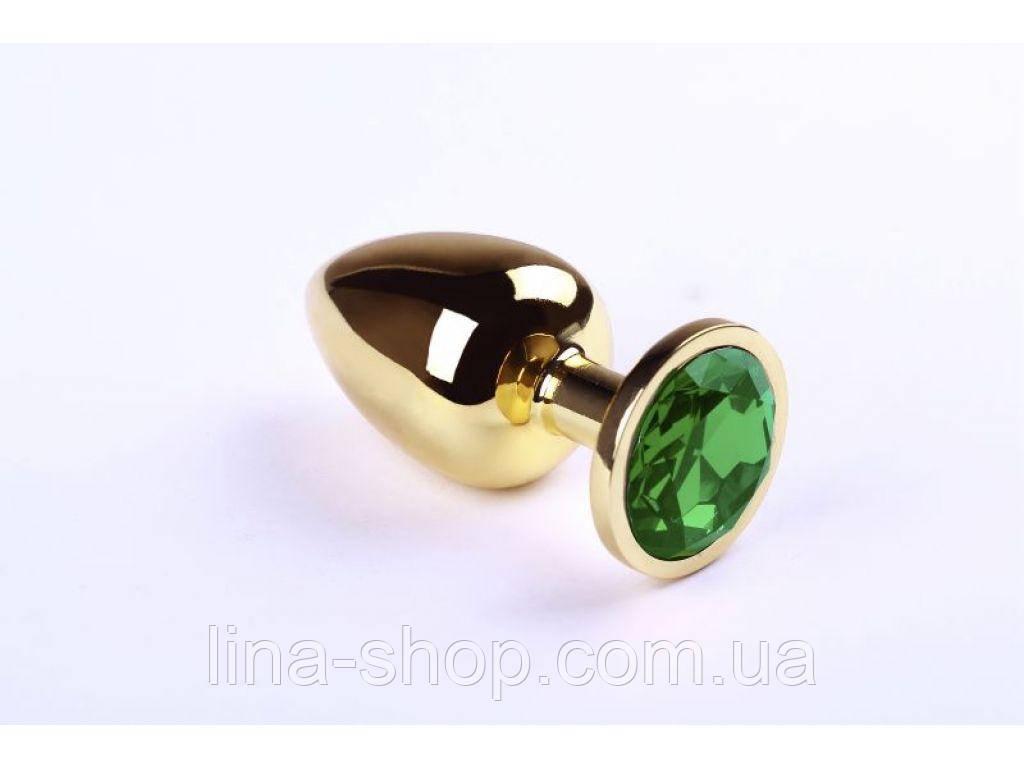 SLash - Анальная пробка,Gold Chrysolite,L (280907)