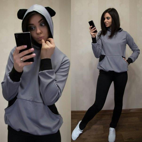 Женский спортивный костюм с ушками Regis r-28spt79
