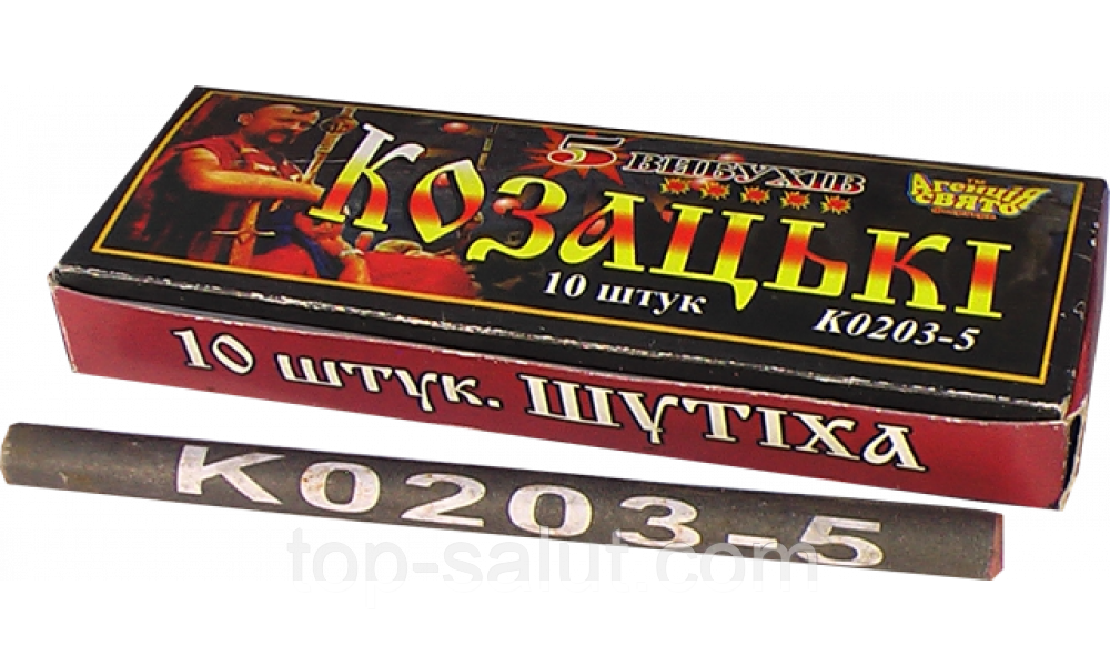 Петарды К0203-5 10 штук в упаковке 5 выстрелов