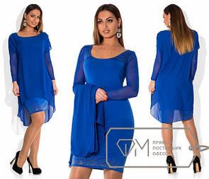 Платье большого размера с накидкой (много расцветок) k-15blr145