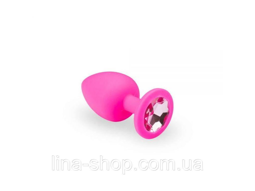 SLash - Анальная пробка, Pink Silicone Pink Topaz, M (280238)