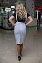 Женский стильный комбез в больших размерах из двунитки и джинса j-10blr489, фото 2