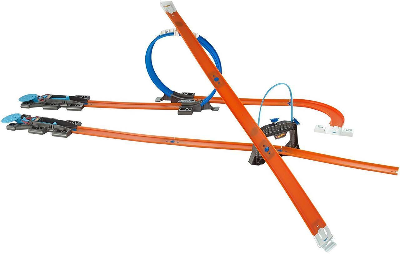 Многовариантный переносной трек Хот Вилс Игра без границ Hot Wheels Workshop Track Builder Starter Kit