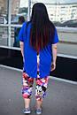 Летний цветочный женский костюм в больших размерах t-10blr681, фото 4