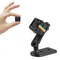Миниатюрный видеорегистратор цифровой Cooljier SQ11 FullHD 1080P, 2 Мп, черный